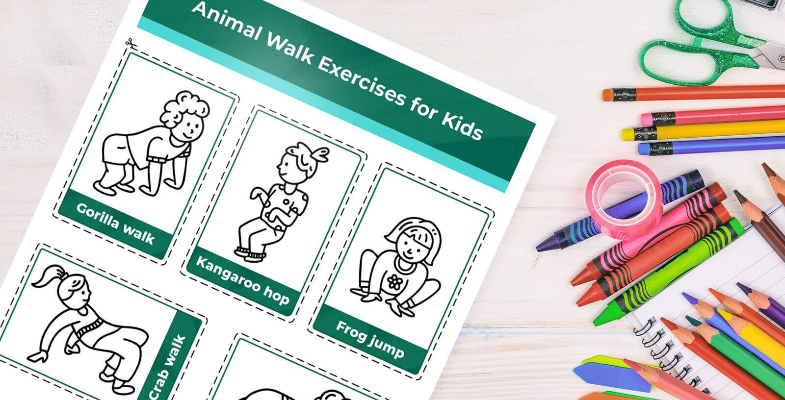Kids doing animal walks