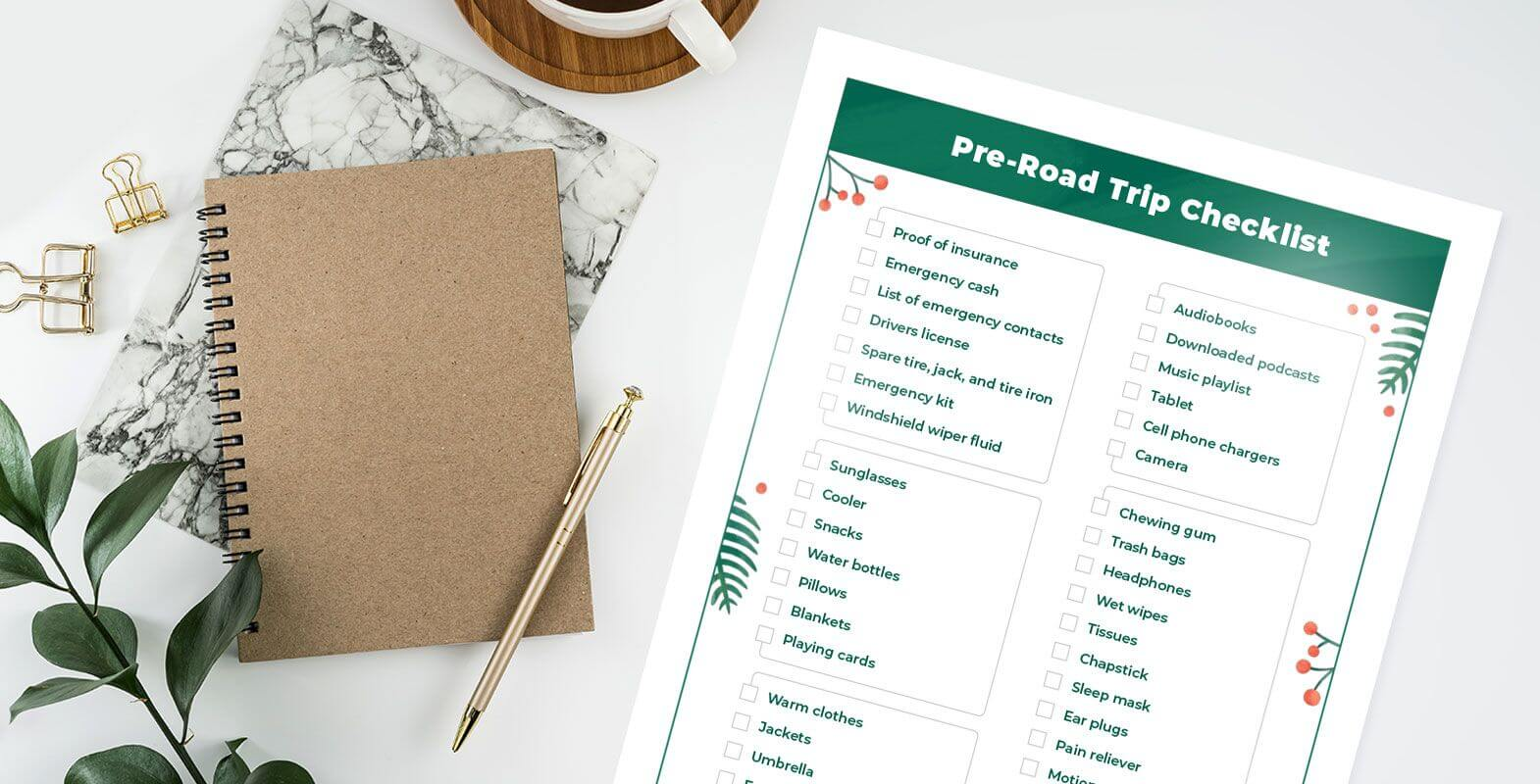 Pre-Road Trip Checklist