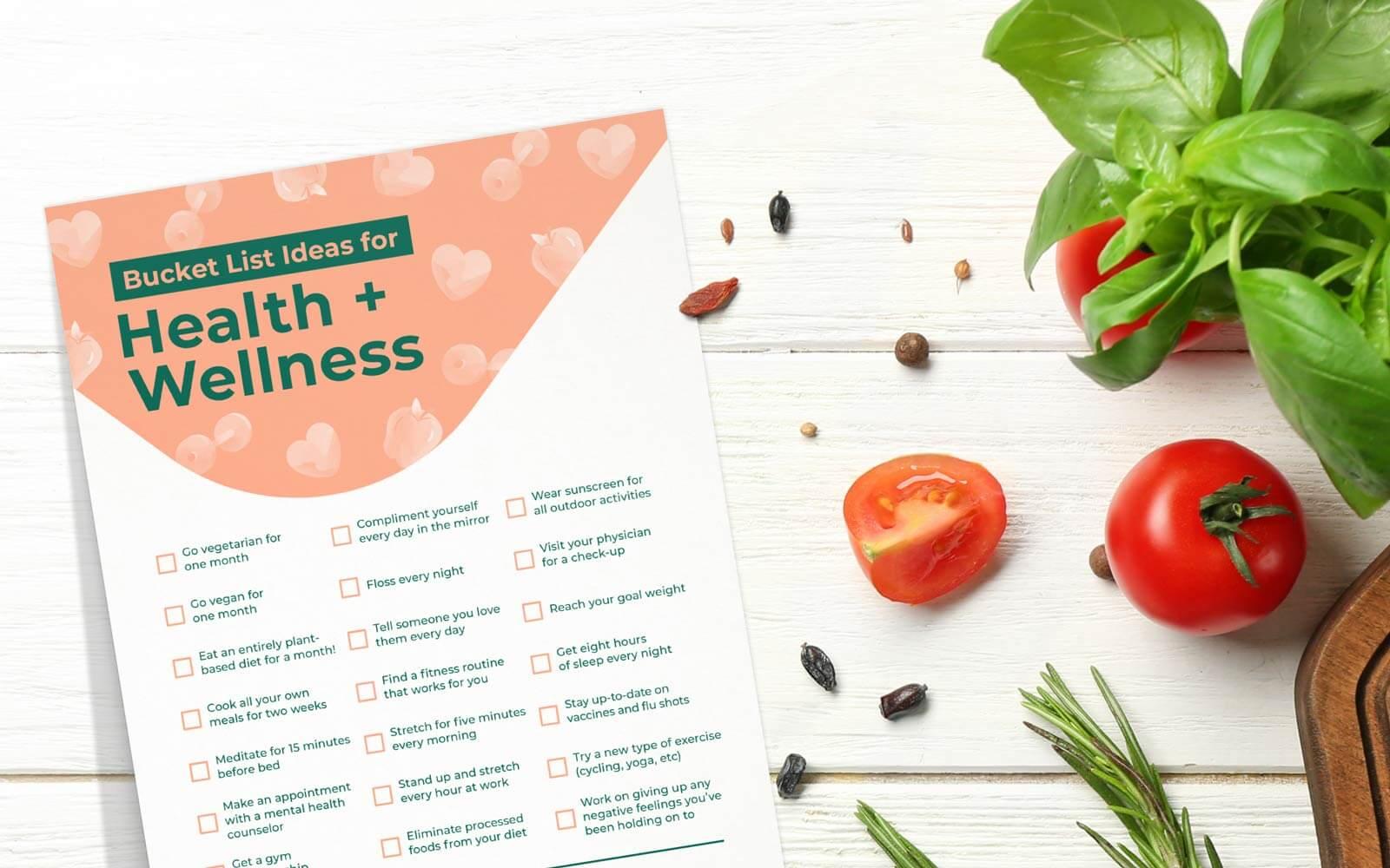 health fitness bucket list ideas printable