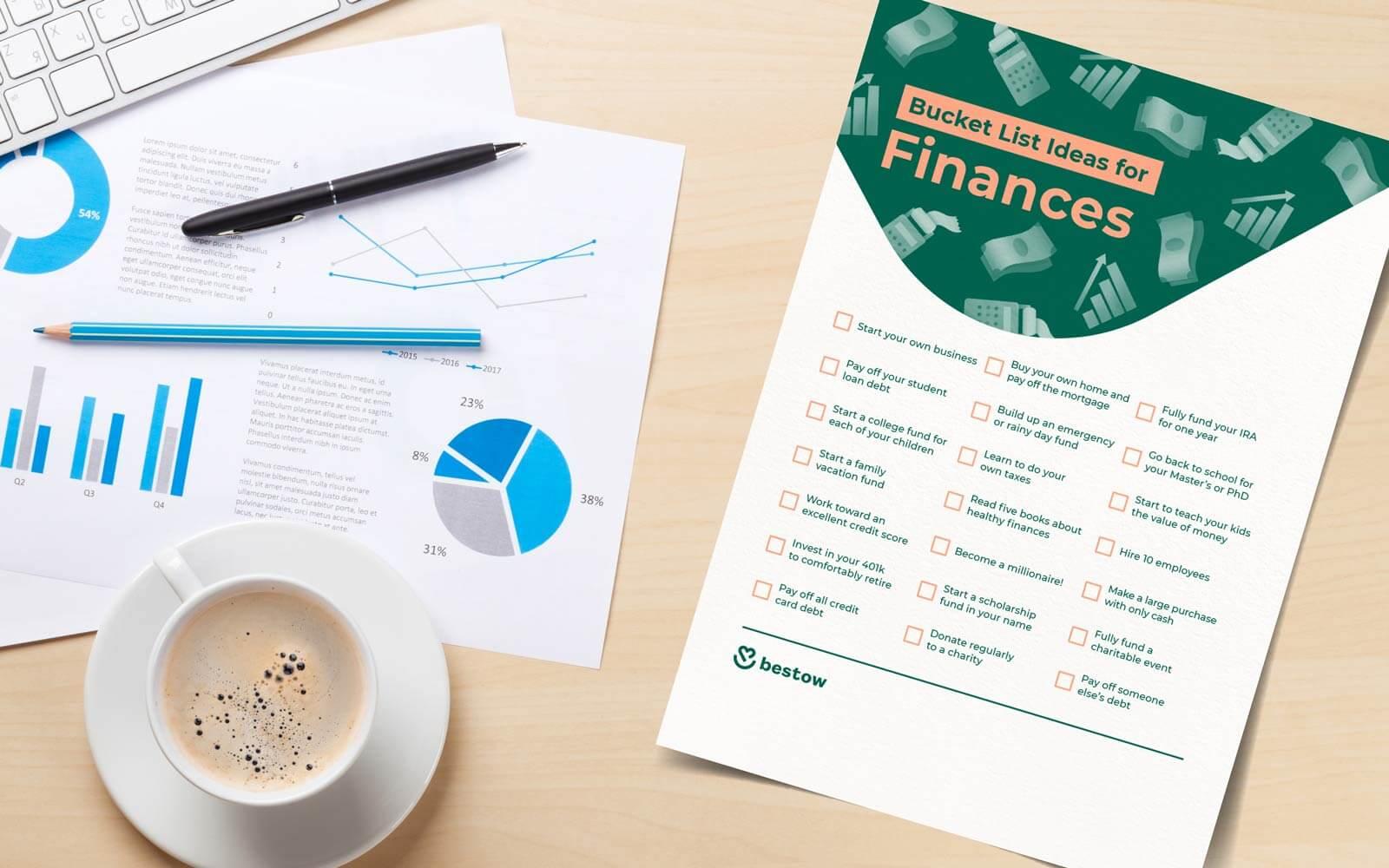 finance bucket list ideas printable